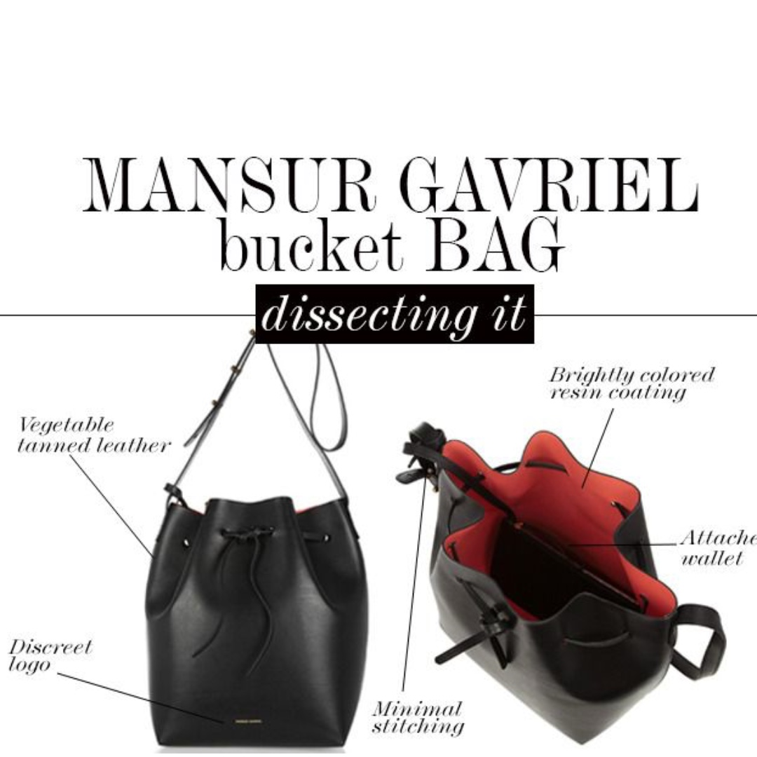 brand new Mansur gavriel mini bucket bag black red
