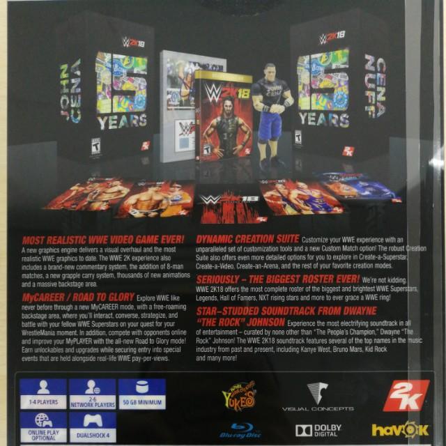 Brand New) PS4 WWE 2K18 John Cena Edition / R3, Toys & Games