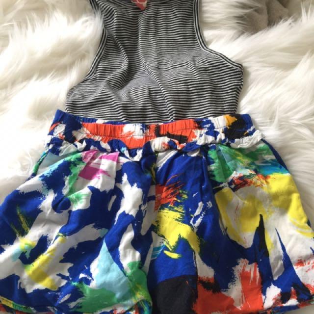 Brand new Zara top and Preloved Zara short size s
