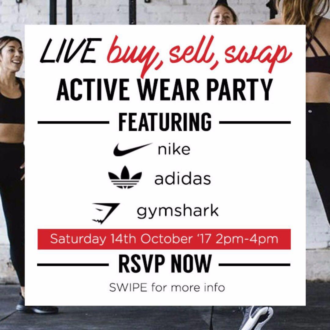 Buy-Sell-Swap Activewear: Nike, Adidas and Gymshark