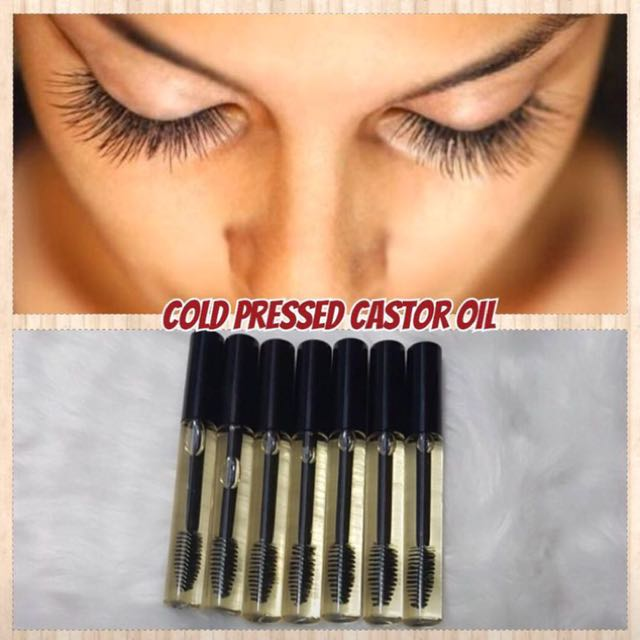 Castor oil for eyelash growth 10ml mascara bottle