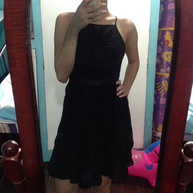 Cotton On Black Embroidered Dress