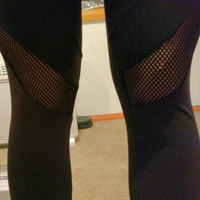 Cotton On body activewear fishnet panel leggings