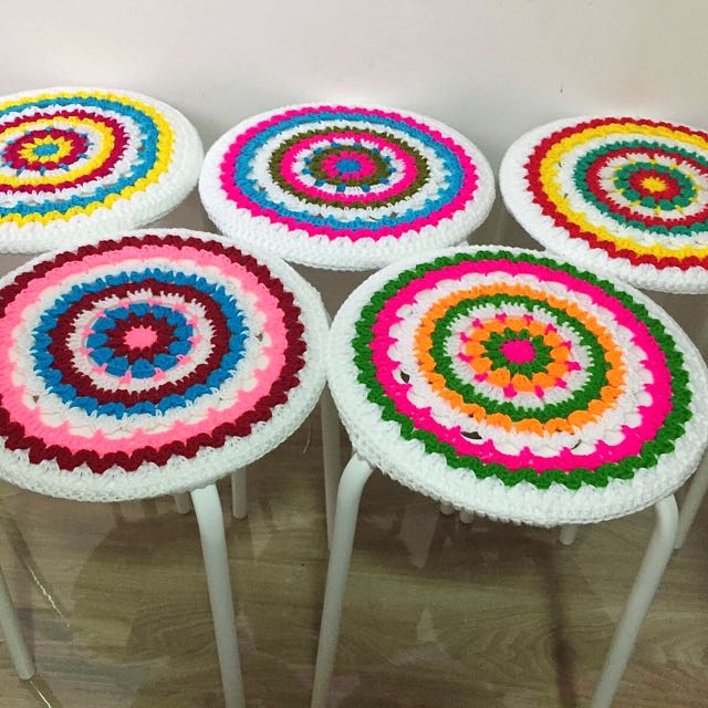 Crochet Seat Cover Design Craft Handmade Craft On Carousell