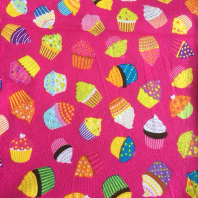 Cupcake print tablecloth fits trestle table