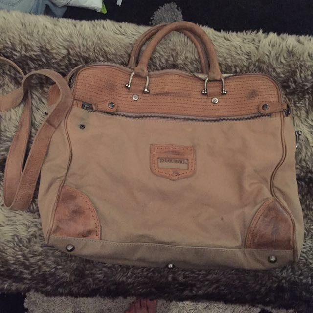 DIESEL leather and canvas work / laptop bag