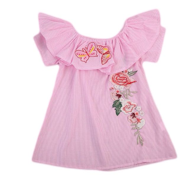 DRESS IMPORT ANAK BALITA PEREMPUAN BAJU TERUSAN BAYI SABRINA MODIS READY STOCK EMBROIDERY, Olshop Fashion, Olshop Wanita on Carousell