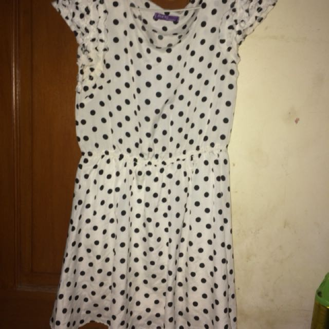 Dress Polkadot// Hitam Putih