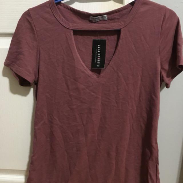 Fashion Nova Cut Out Tshirt