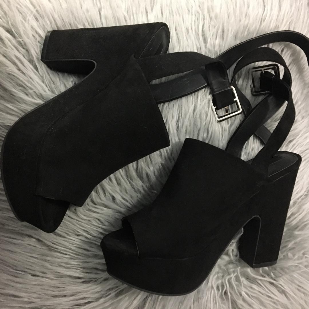 Forever 21 platform mule block heel