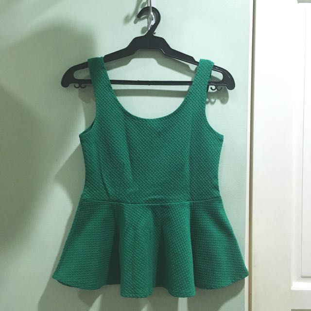 Forever 21 texturized peplum top