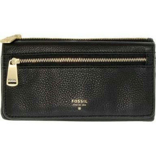 Fossil Preston Flap clutch black dompet Authentic
