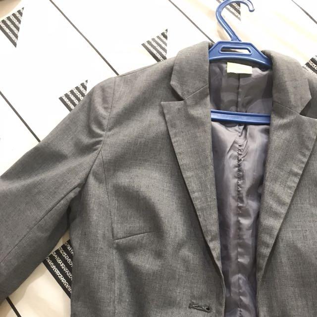 Gray officewear blazer