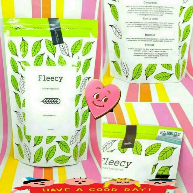 Green Tea Face N Body Scrub Original Fleecy