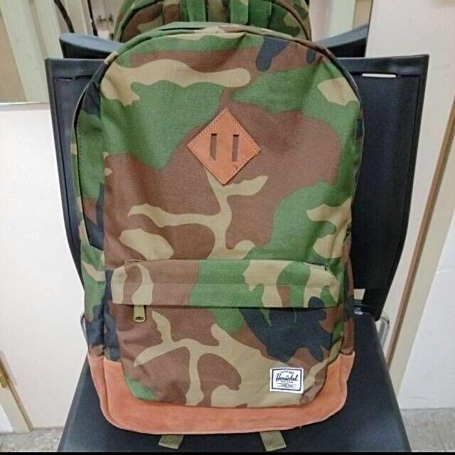 保證正品👍🏻Herschel軍綠迷彩後背包#我有後背包要賣