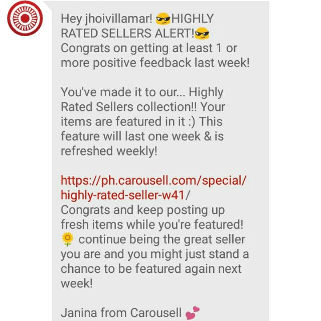 Highly-Rated Seller This Week