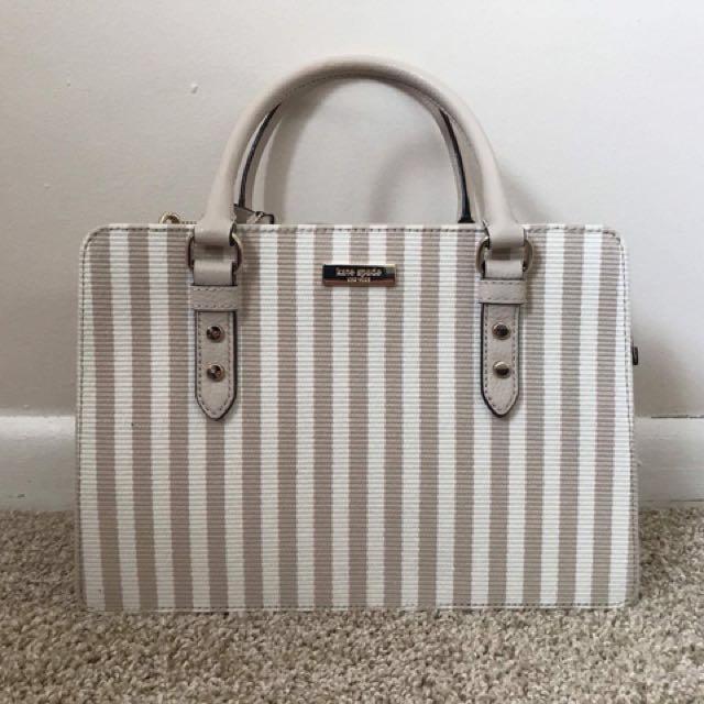 e58560911e ... purchase kate spade wkru4413 mulberry street fabric lise beige bag  handbag w sling preloved womens fashion