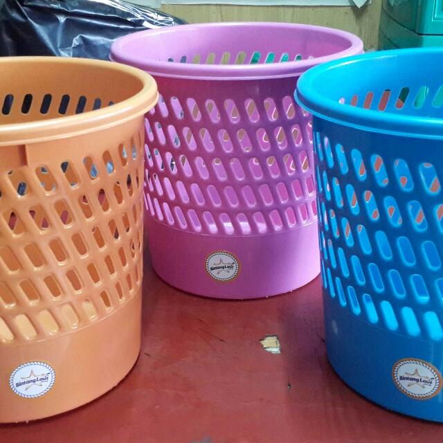 Keranjang Sampah Plastik Warna Cerah Home Furniture On