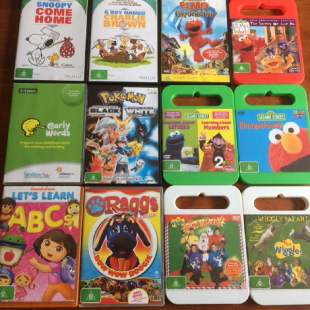 Kids children's DVDs
