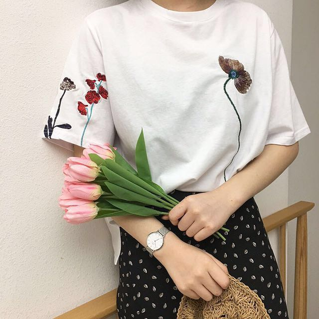 Korean embroidery top