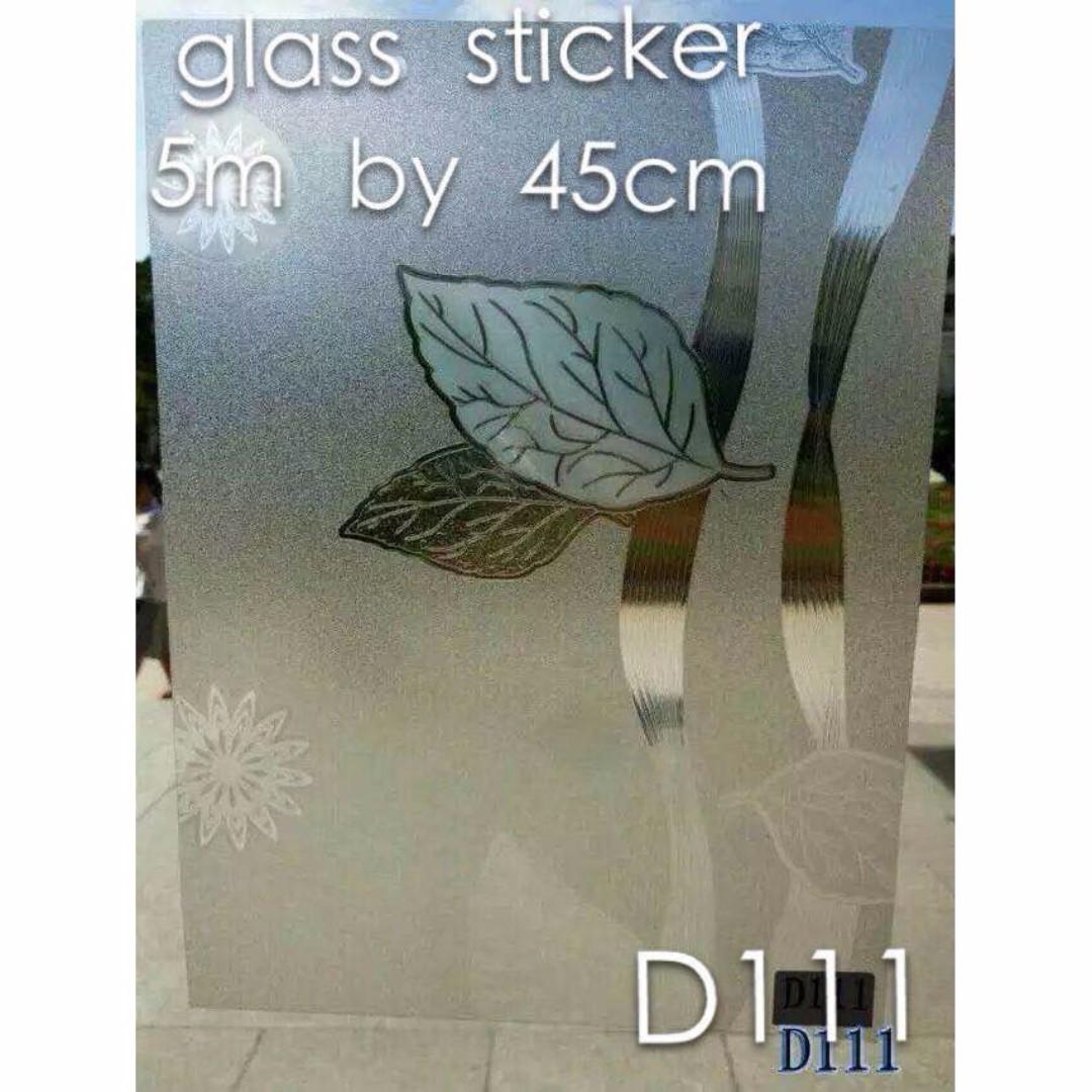 Leaves Glass Sticker Water Spray Type 5m x 45cm