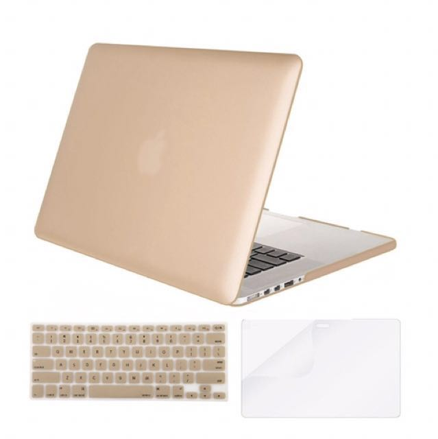 """MacBook Pro 13"""" Gold Case + Keyboard Cover"""