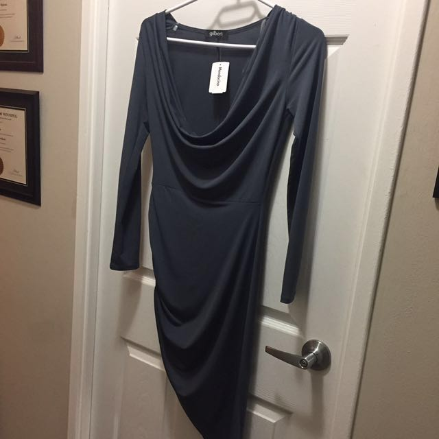 Mendocino GILBERT cowl neck dress size SMALL