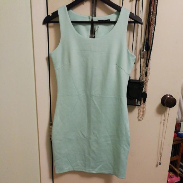 Mint green bodycon dress