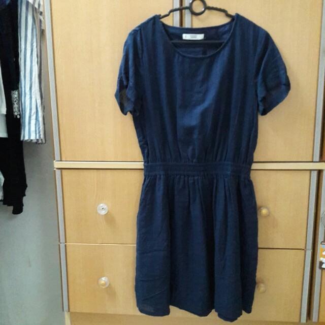 MNG Navy Blue Casualwear Dress