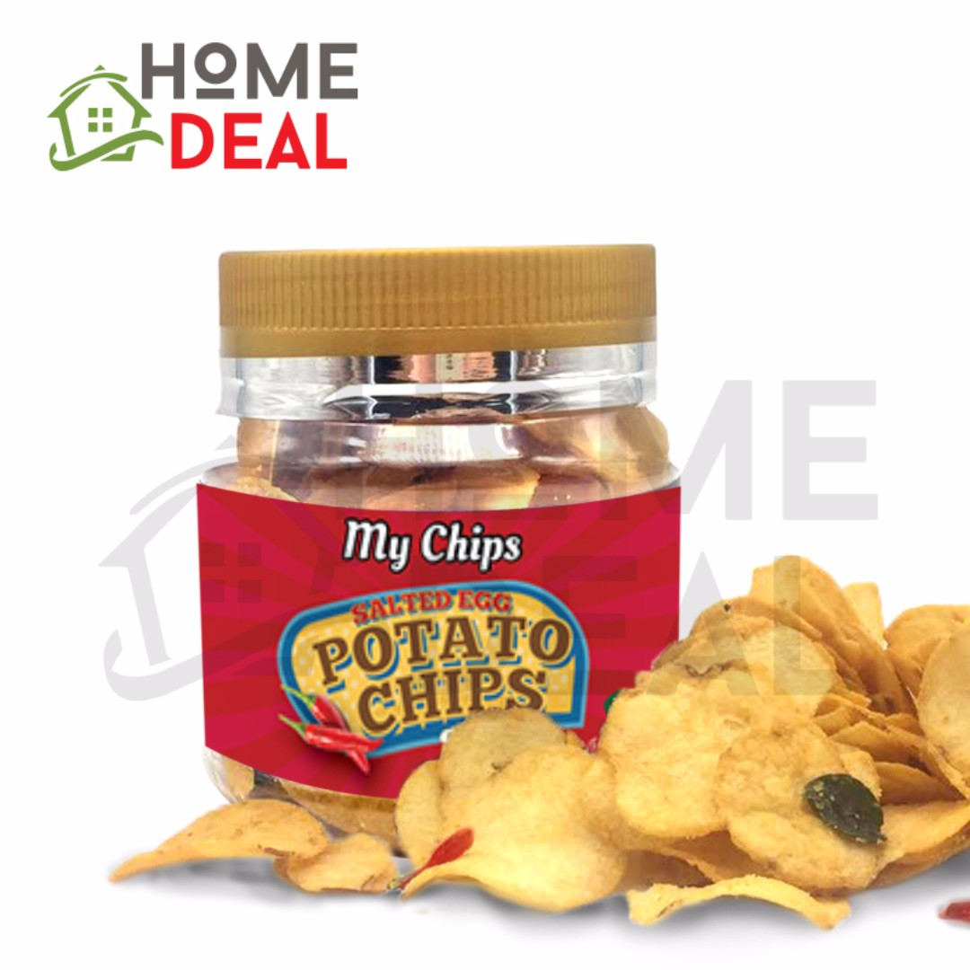 My Chips Salted Egg Potato Chips Spicy 100g