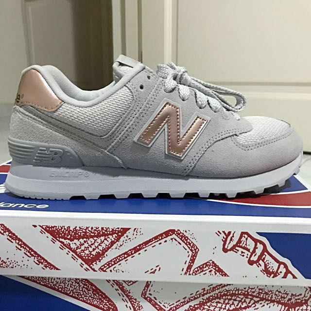 new balance 574 donna rose gold