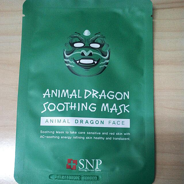 New Masker SNP Animal dragon soothing mask