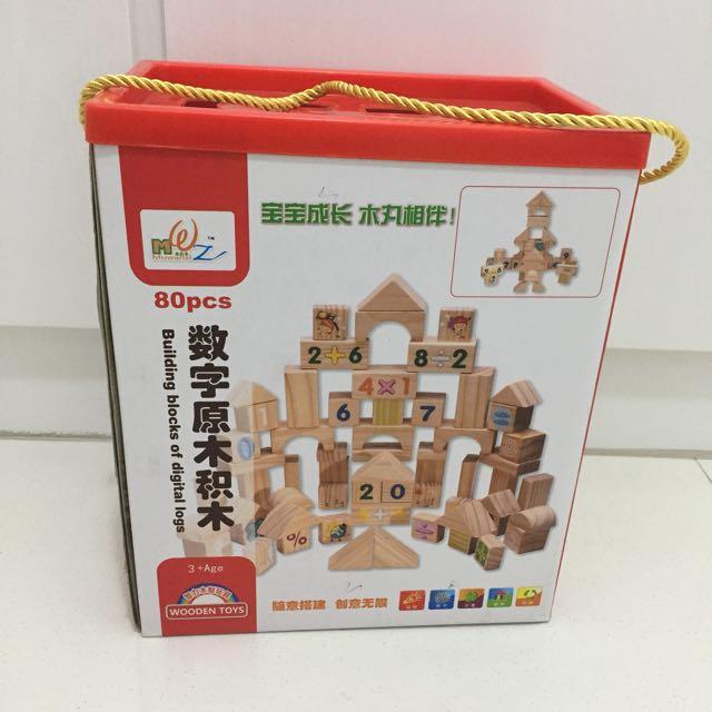 Number Wooden Blocks