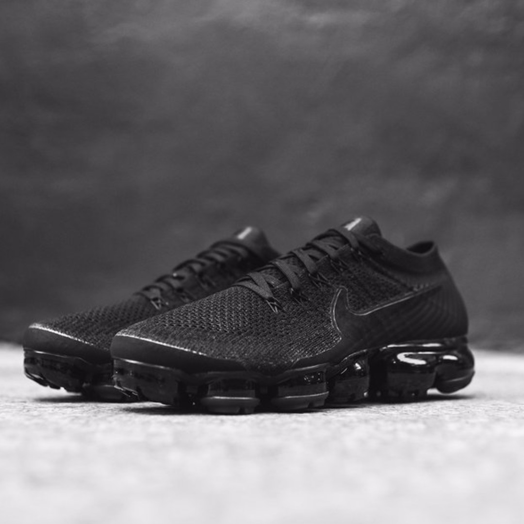 huge discount f94c5 6dd29 Order# Nike Air Vapormax Flyknit Triple Black 2.0, Men's ...