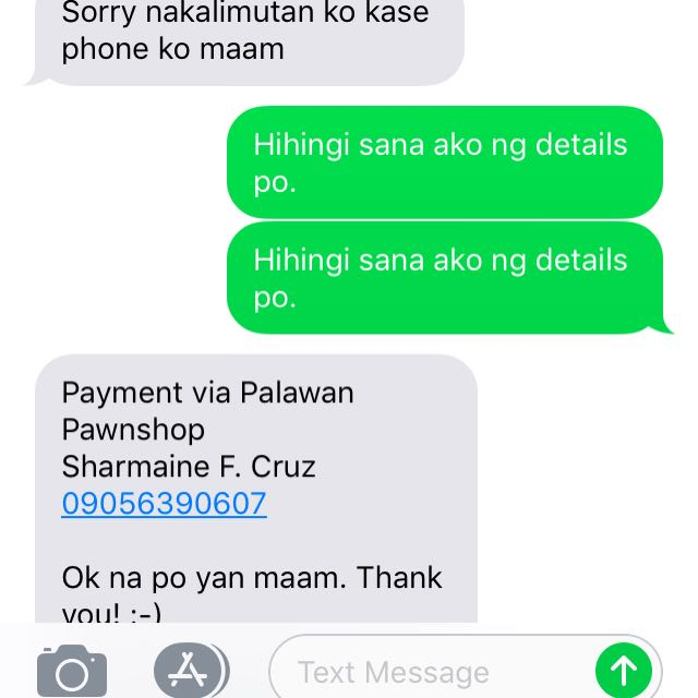 Please help me. I had a transaction with this lady, nagpadala na rin ako ng money. But hindi naxa ma contact. Help Carousell 😭
