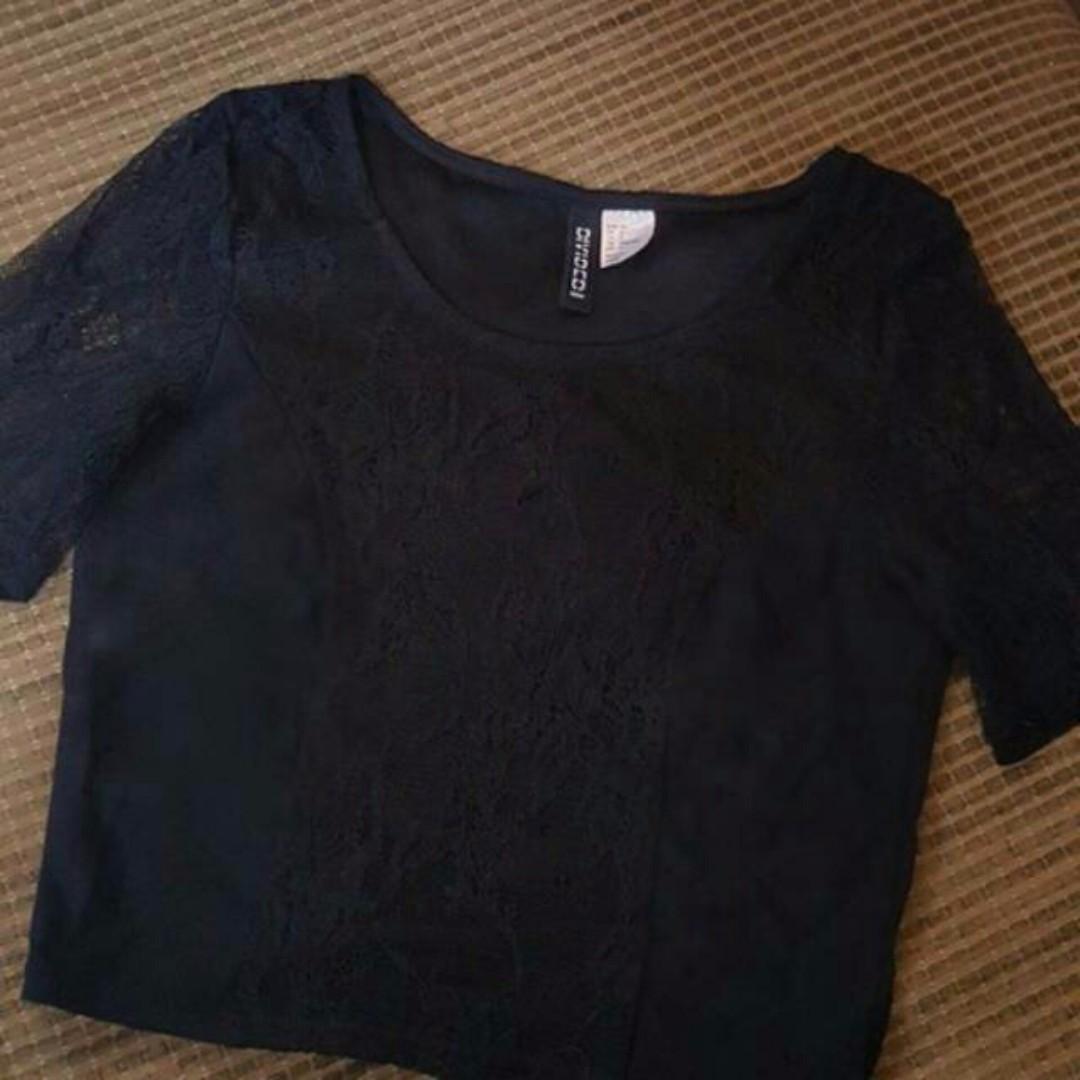 Preloved hnm lace top crop