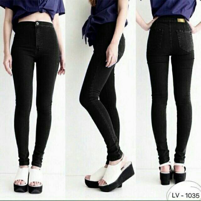 Punny Highwaist Jeans Black size 27