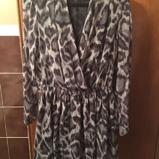 RACHEL ROY coal combo dress - Large - New