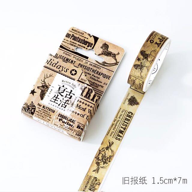 [READY STOCK] Retro Washi Tape