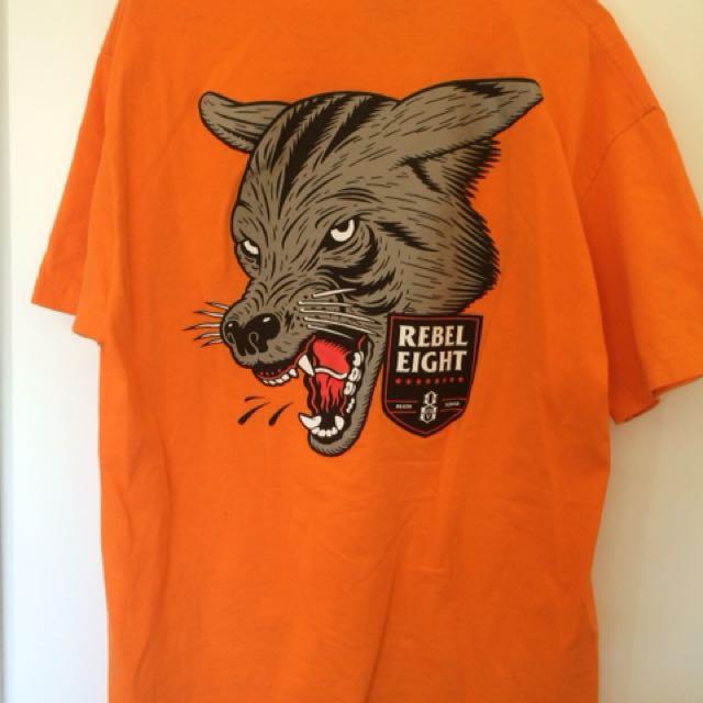 Rebel 8 Orange Wolf T-Shirt