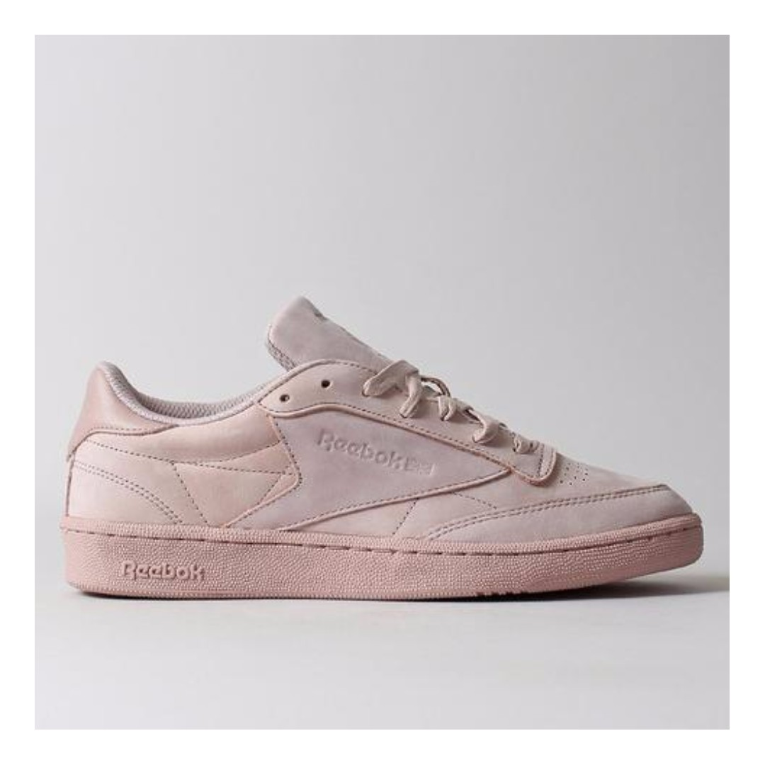 957c6ea3346 REEBOK CLUB C 85 RS SHOES – SHELL PINK GOLD METALLIC - ROCK SOLID ...