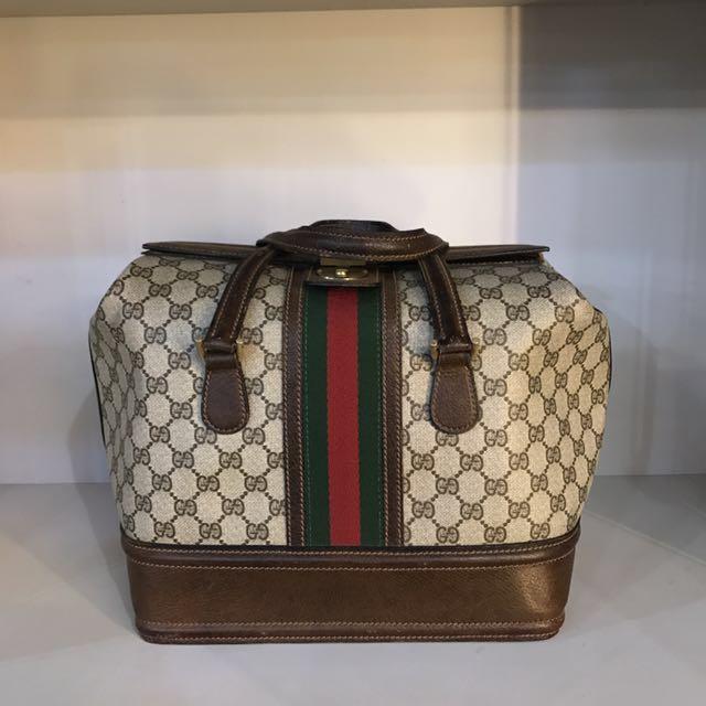 1b259f4f297 REPRICED!!!Vintage Gucci 1970 s Brown Gg Train Case