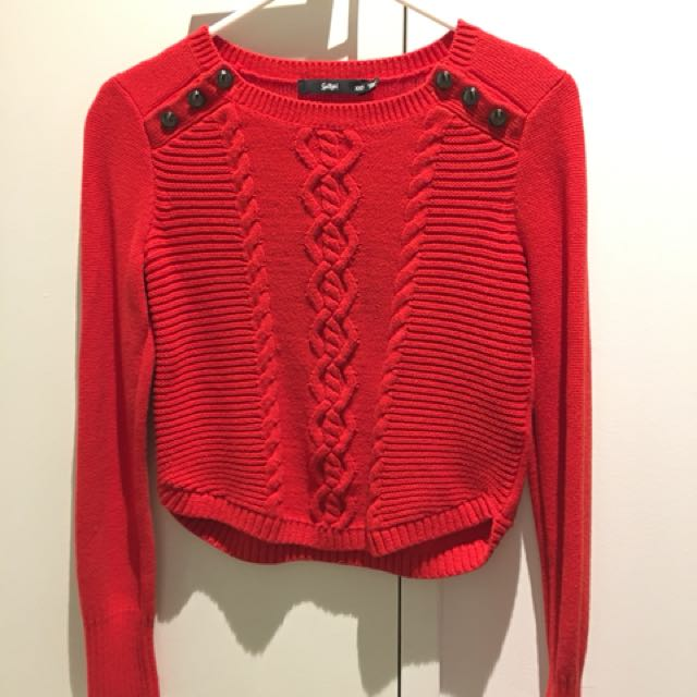 Sports girl knit top