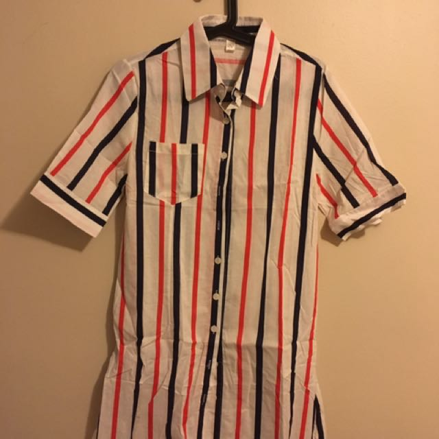 Stipe Dress Polo