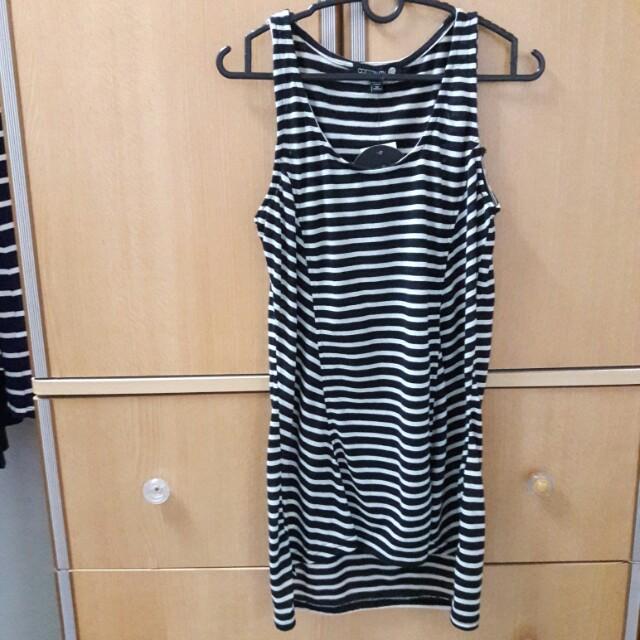 Stripe Long Tank Top / Mini Dress