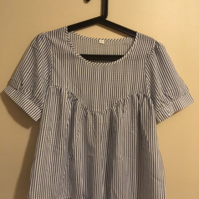 Stripy loose blouse