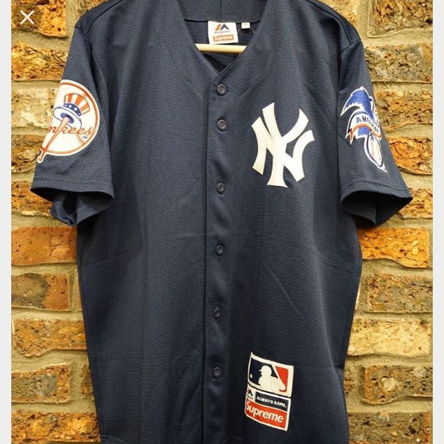 pretty nice 12eea 34b14 Supreme x New York Yankees Majestic Jessy, Men's Fashion ...