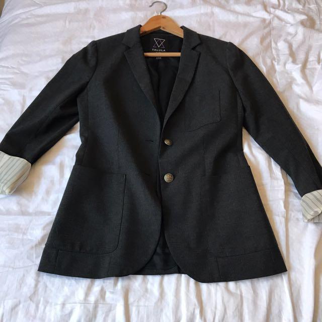 Talula charcoal blazer