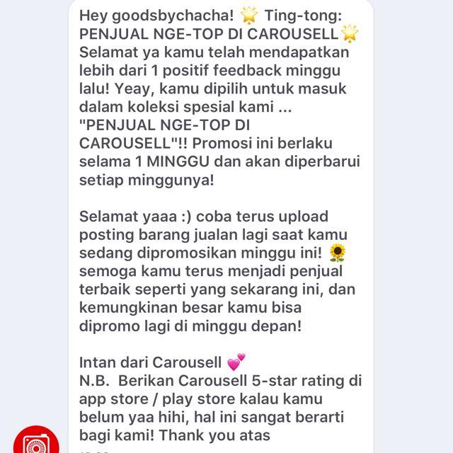 Thankyou Carousell Admin💛