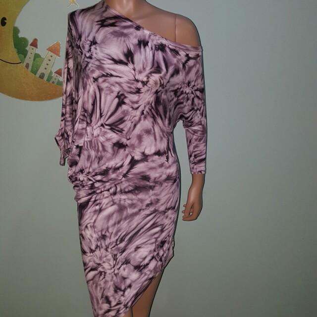 Tie dye mini dress / blouse